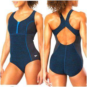 SPEEDO Texture Touchback One Piece swimsuit size 8